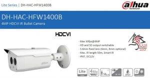 دوربین مداربسته آنالوگ مدل DH-HAC-HFW1400B