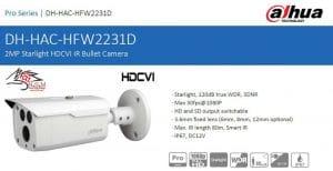 دوربین مداربسته آنالوگ مدل DH-HAC-HFW2231DP