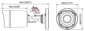 دوربین مداربسته بولت مدل DH-HAC-HFW1100RP