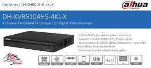 ضبط کننده ویدیویی دیجیتال DVR داهوا مدل DH-XVR5104HS-4KL-X