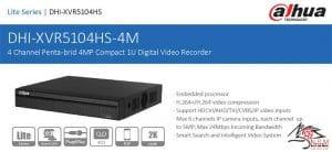 DVR داهوا مدلDH-XVR5104HS-4M