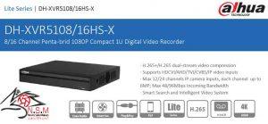 ضبط کننده ویدیویی دیجیتال DVR داهوا مدل DH-XVR5108HS-X