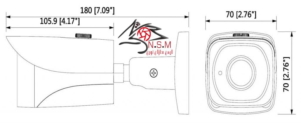 دوربین تحت شبکه بولت داهوا مدل DH-IPC-HFW4231EP-S