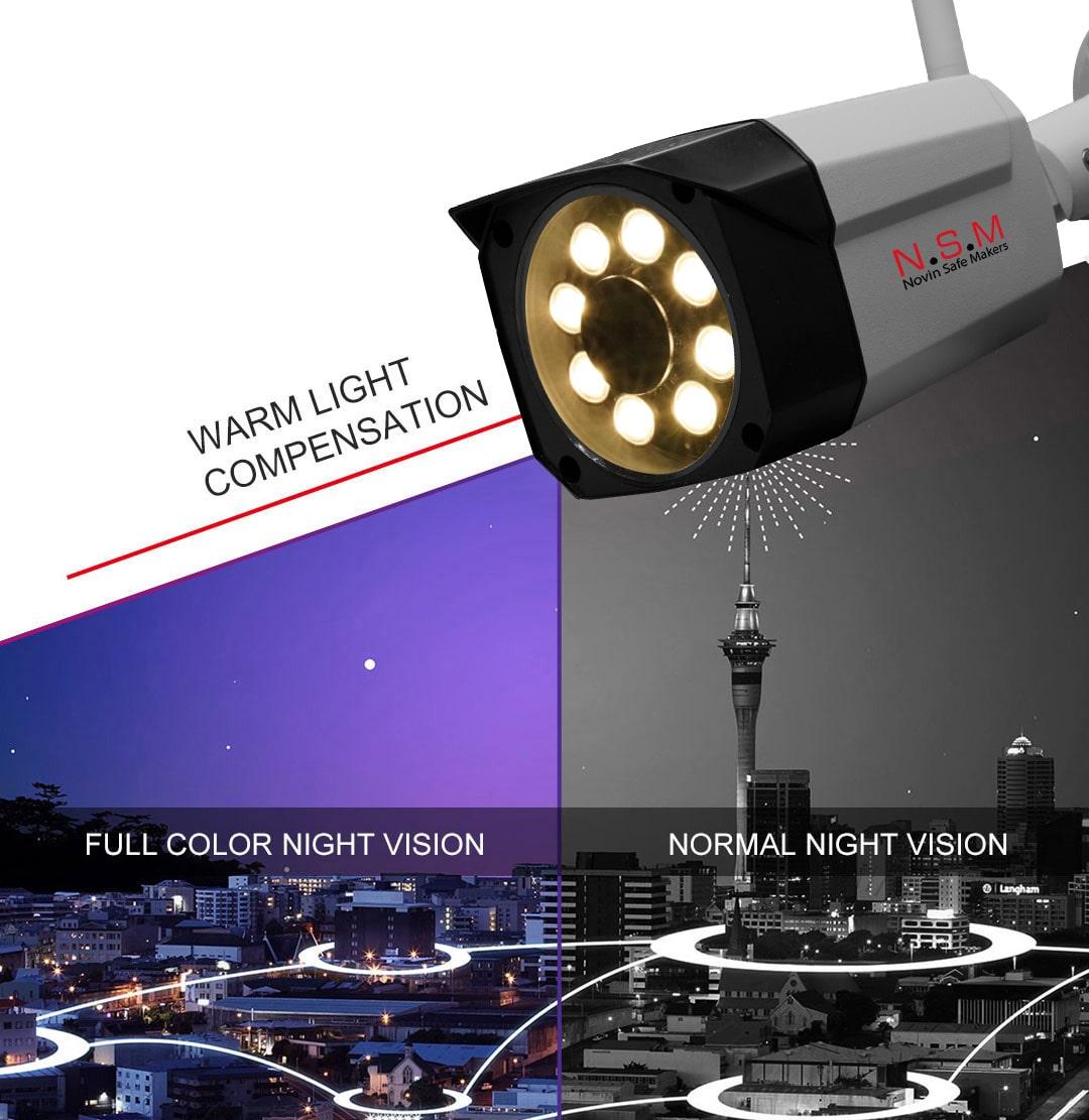 پکیج بی سیم دوربین مداربسته دید در شب رنگی