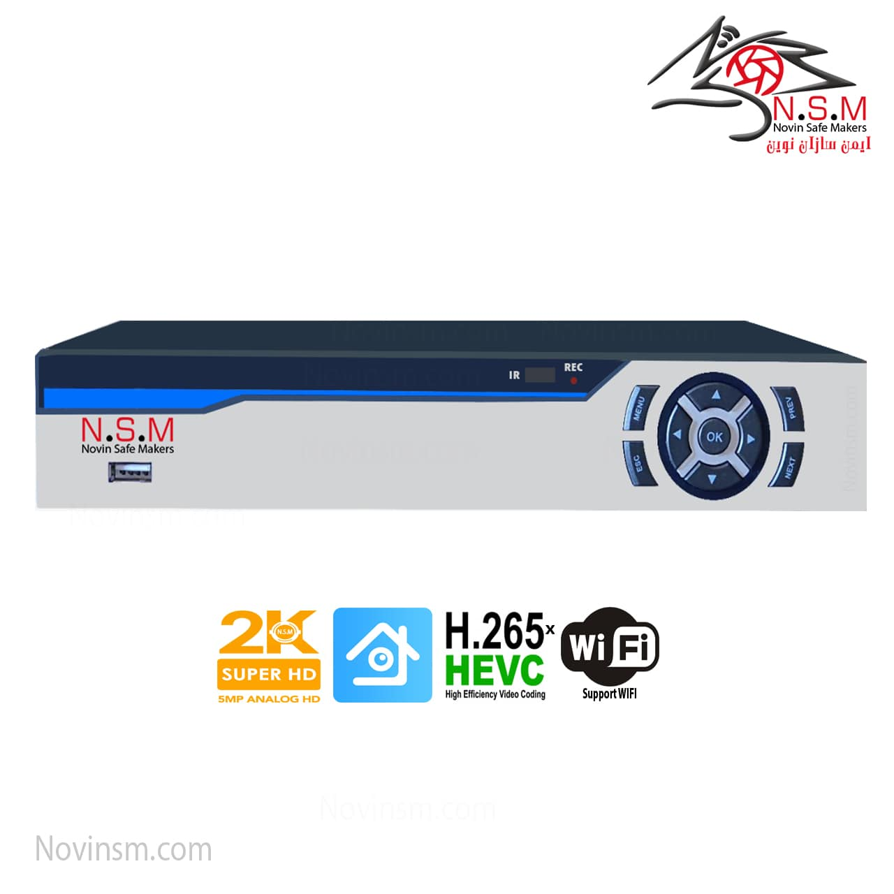 دستگاه ضبط 4 کانال 2K برند NSM | ایکس وی آر