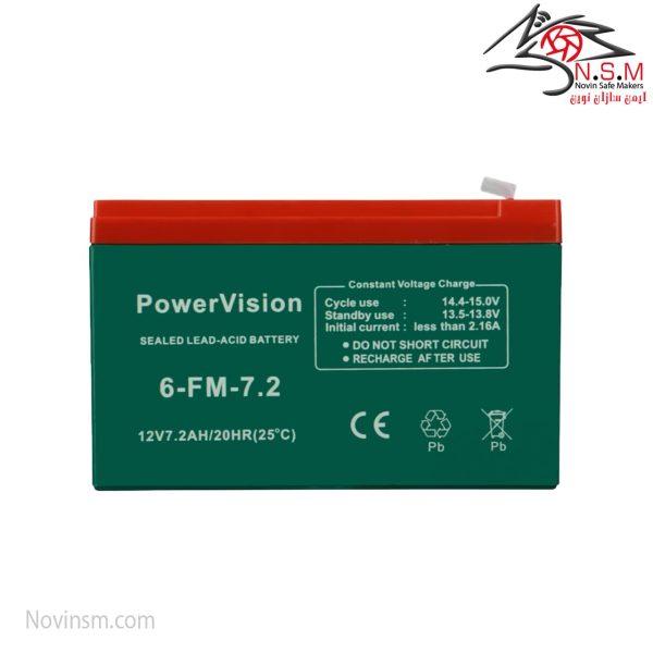 باتری ۷/۲ آمپر برند Power Vision